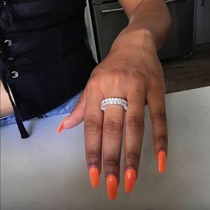 CZ Emerald Cut Eternity Ring